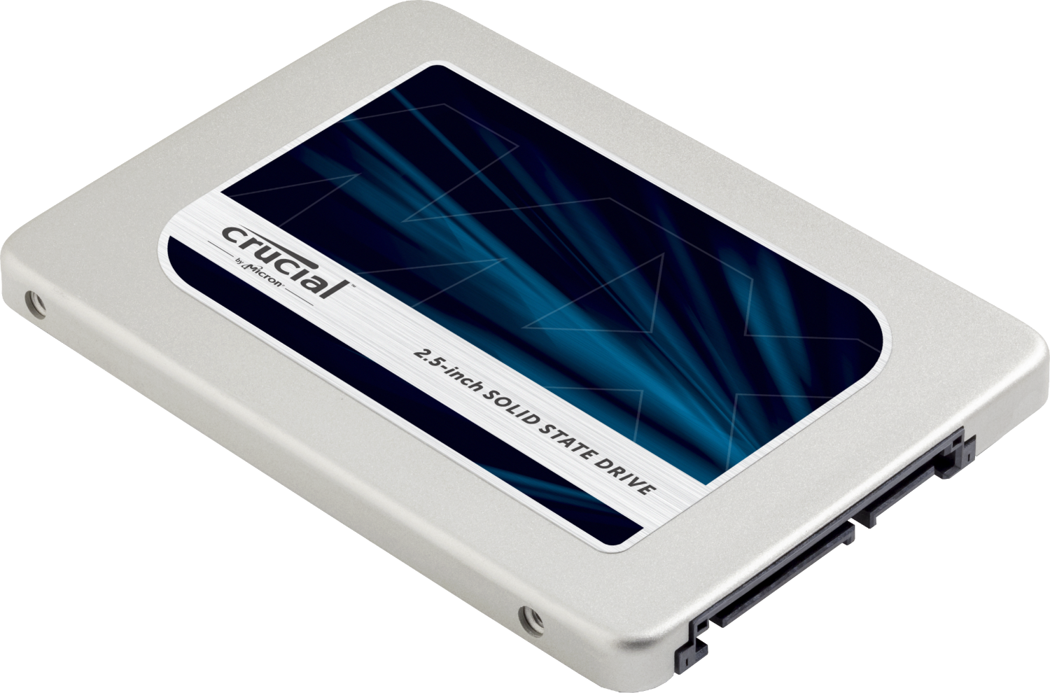 Crucial solid-state drive (SSD.)